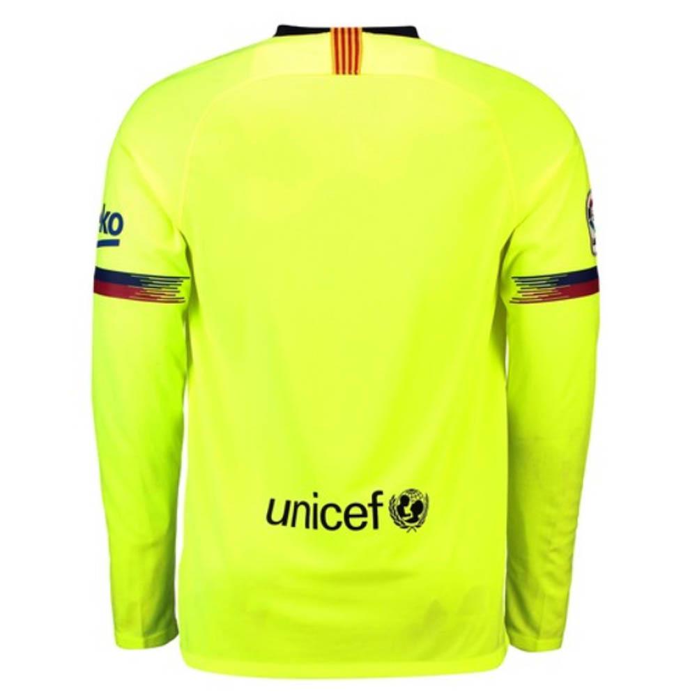 f6d16369c 2018-2019 Barcelona Away Nike Long Sleeve Shirt (Xavi 6)   919045-703-125916  -  107.82 Teamzo.com