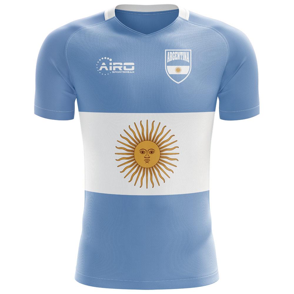 Brush Drapeau Argentina T-Shirt Hommes 2018 Fan Shirt Football Coupe du Monde Argentine Neuf