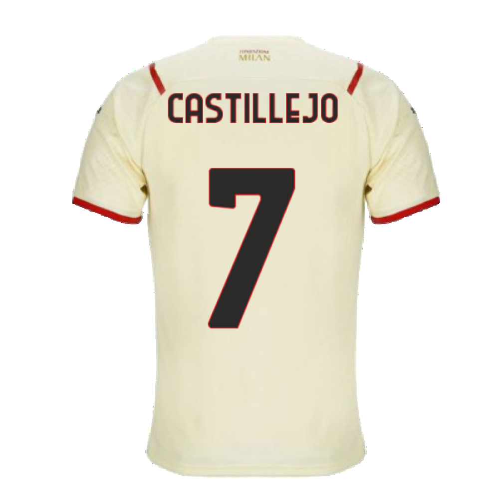 2021-2022 AC Milan Away Shirt (CASTILLEJO 7)