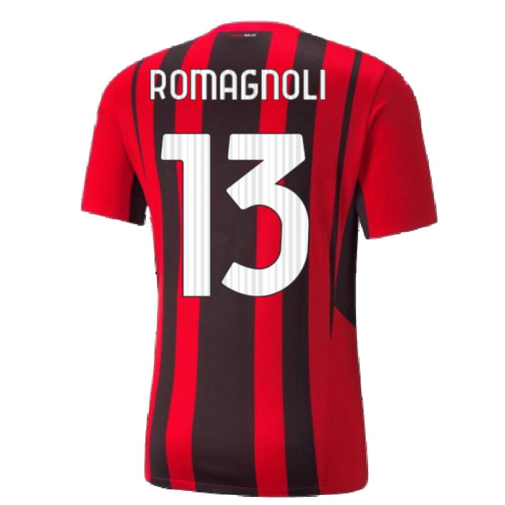 2021-2022 AC Milan Home Shirt (Kids) (ROMAGNOLI 13)
