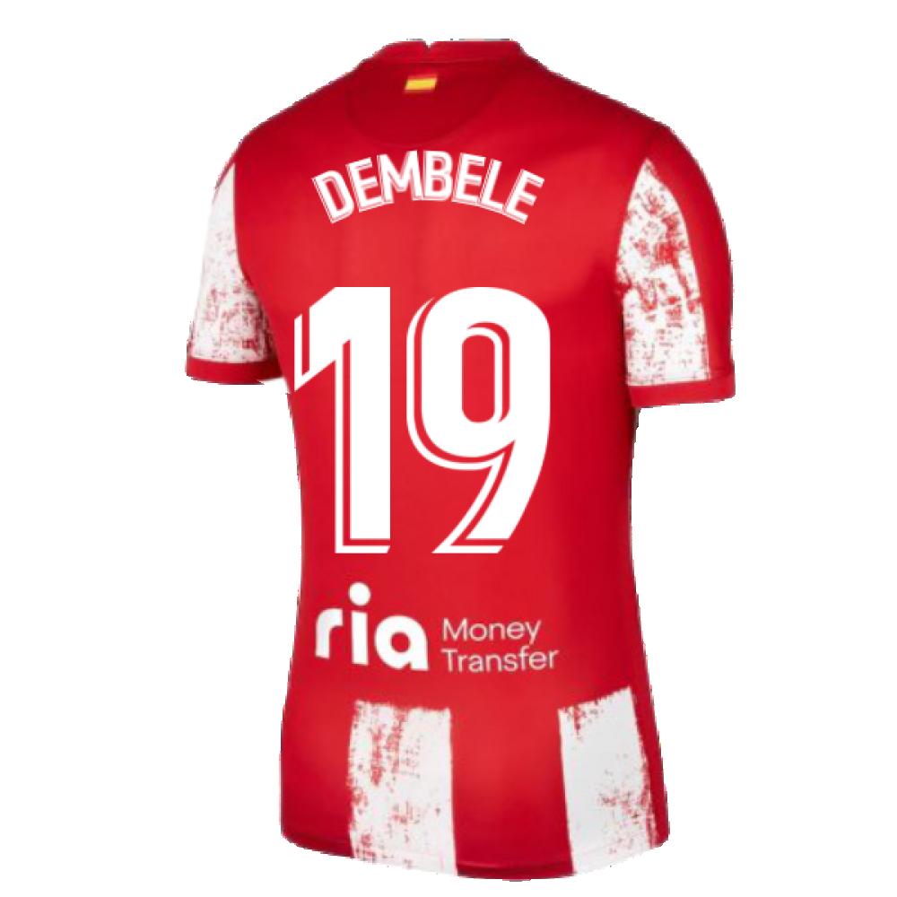2021-2022 Atletico Madrid Home Shirt (Kids) (DEMBELE 19)