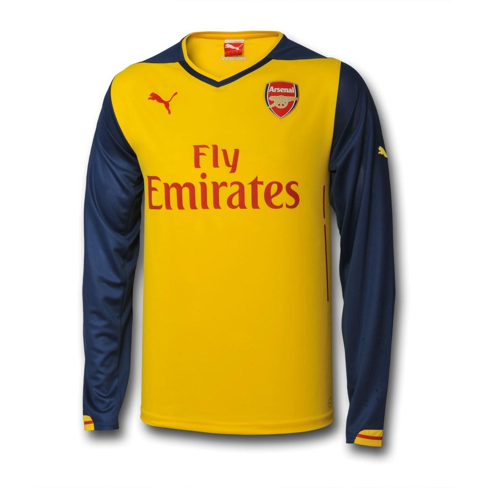 Arsenal 14-15 Away Long Sleeve Shirt  74645108  -  39.75 Teamzo.com 3f52cd531