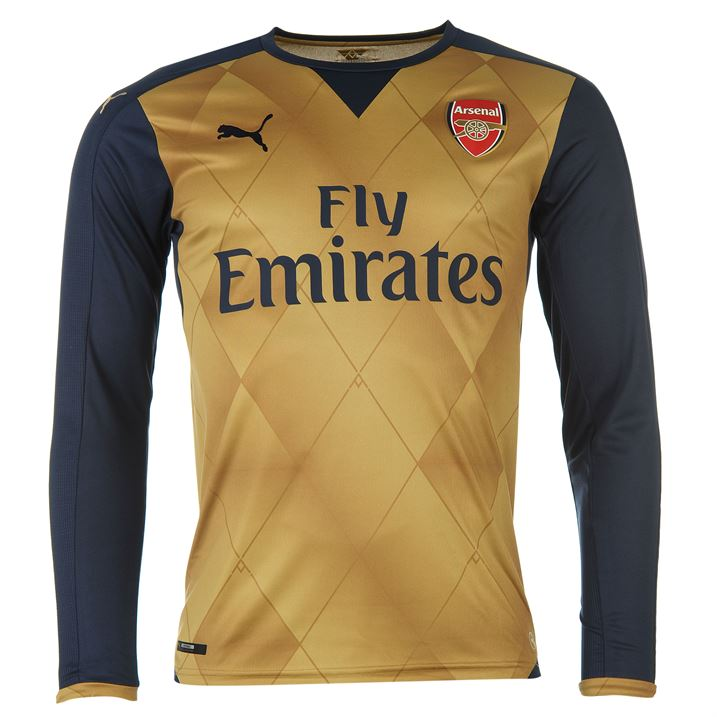 8d1e17c33 Arsenal 2015-2016 Away Long Sleeve Shirt (Kids)  74757608  -  50.79 ...