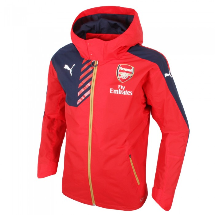 Arsenal 2015-2016 Performance Rain Jacket (Red) - Kids [74762801b ...
