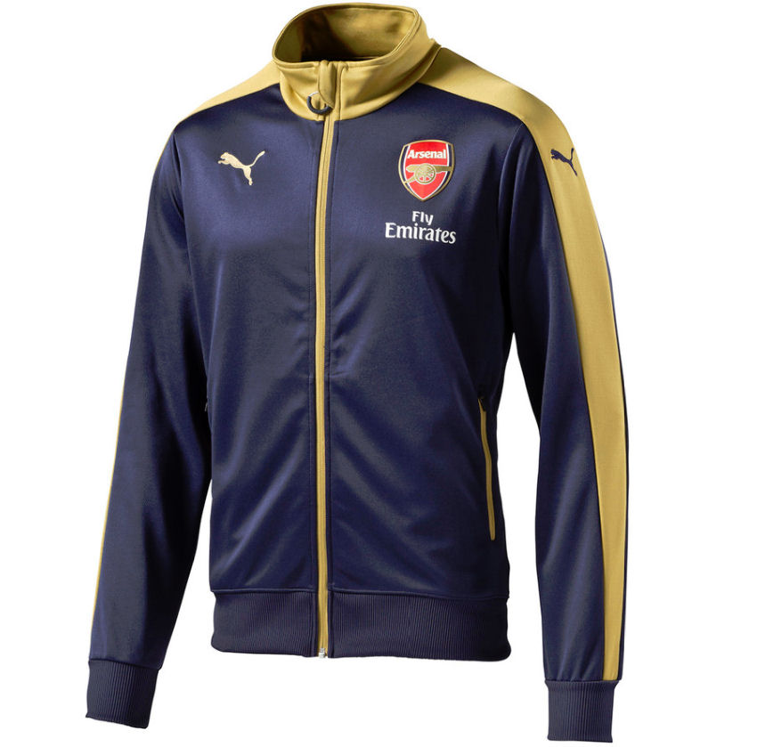 2015-2016 Arsenal Puma Stadium Jacket (Navy)