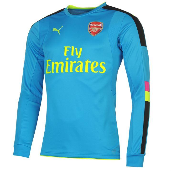 Arsenal 2016 2017 Away Ls Goalkeeper Shirt Blue