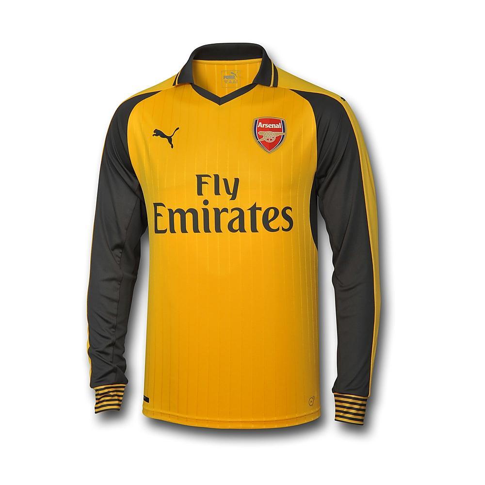 b25c9e464a8 Arsenal 2016-2017 Away Long Sleeve Shirt [74971503] - $69.87 Teamzo.com