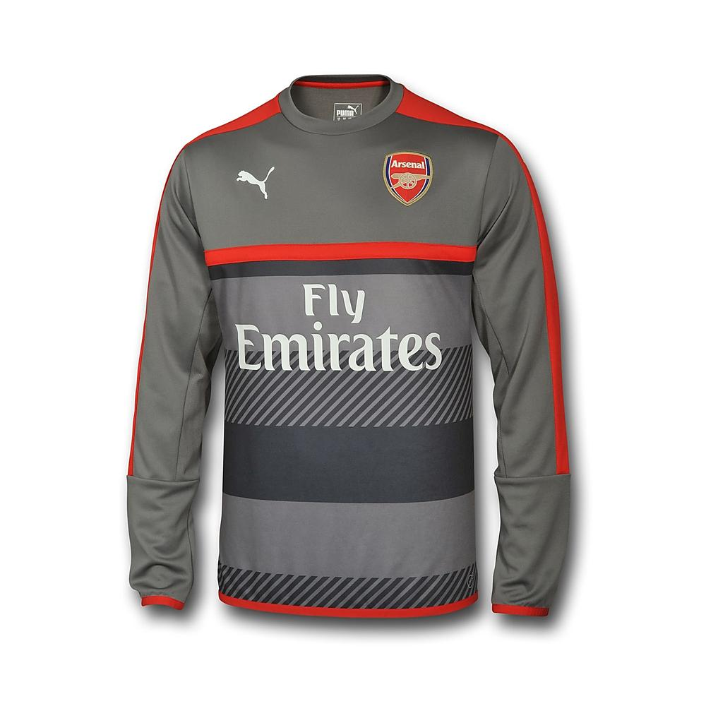 new concept a6037 18af5 Arsenal 2016-2017 Training Sweat Top (Grey) [74975904M] - 46 ...