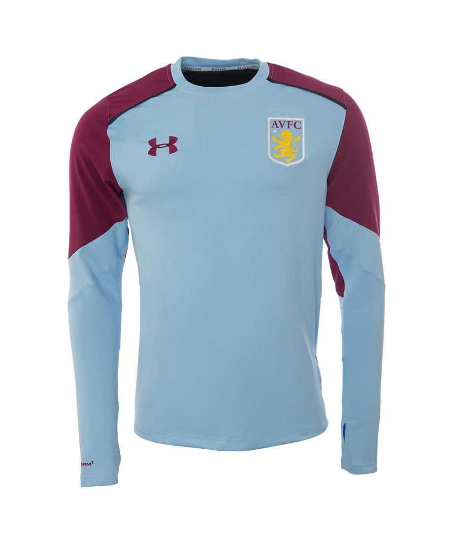 Aston Villa 2016-2017 Midlayer Sweat Top (Peninsula Blue)