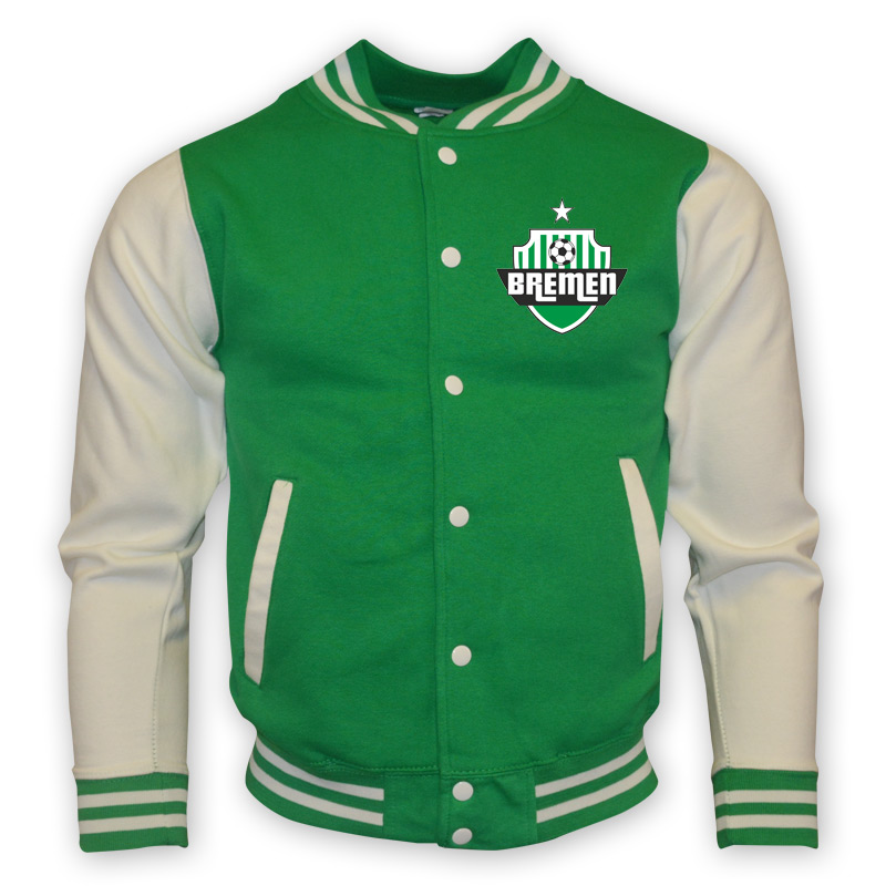 werder bremen college baseball jacket green. Black Bedroom Furniture Sets. Home Design Ideas