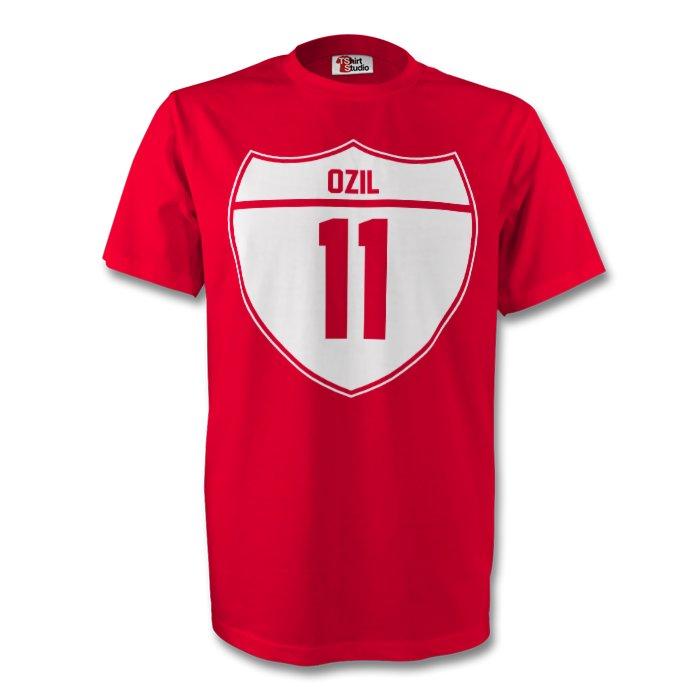 brand new d25a7 f1fb9 Mesut Ozil Arsenal Crest Tee (red) - Kids