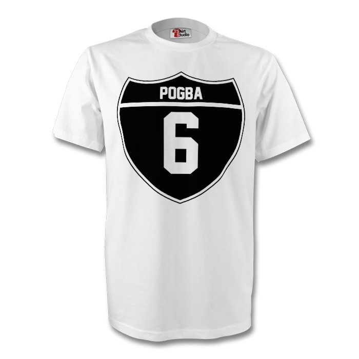 new arrival 70727 d3bc4 Paul Pogba Juventus Crest Tee (white) - Kids