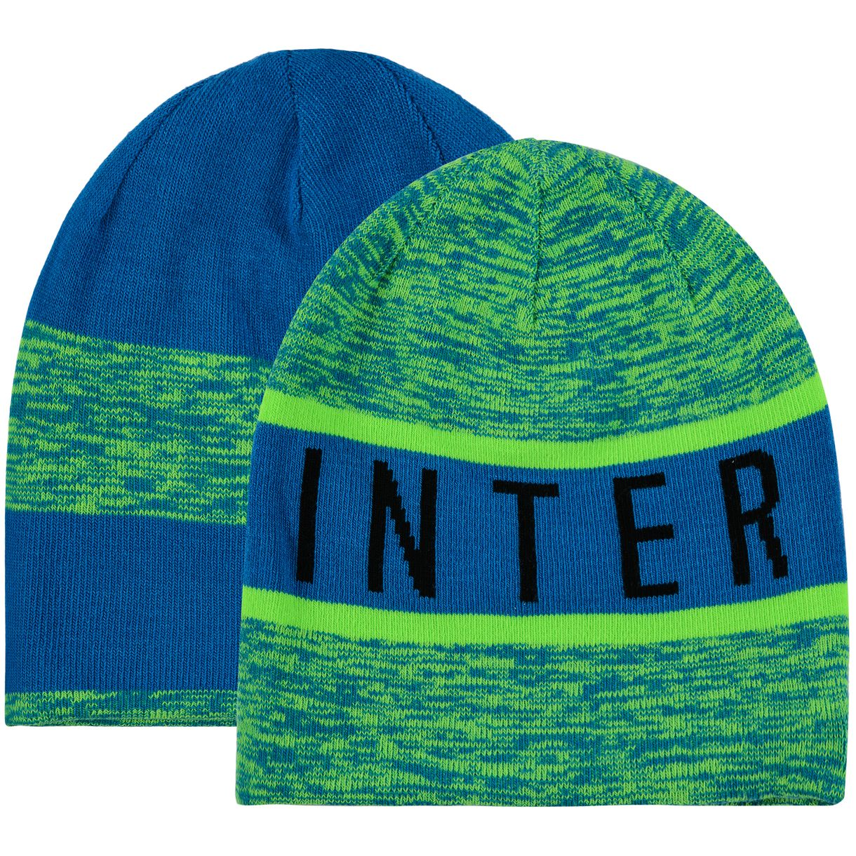 79867b840ed Inter Milan 2016-2017 Reversible Beanie (Electric Green-Blue ...