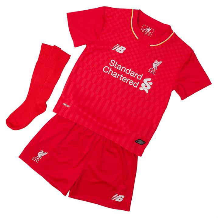 Liverpool 15-2016 Home Little Boys Mini Kit  WSTI500  -  32.25 ... bb9ff5180