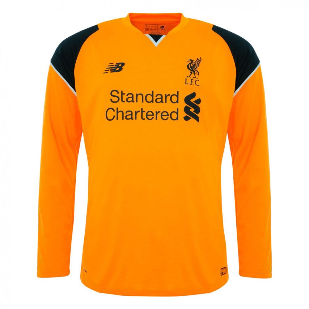 750547e720a Liverpool 2016-2017 Away Long Sleeve Goalkeeper Shirt (Kids ...