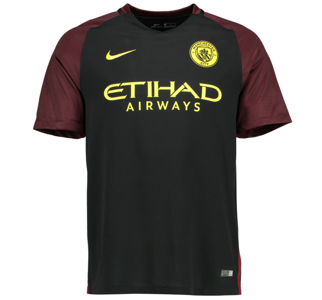 Man City 2016-2017 Away Shirt (Kids)
