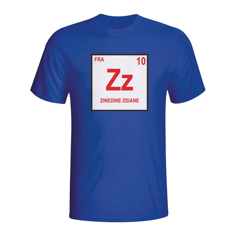 Zinedine Zidane France Periodic Table T-shirt (blue ...