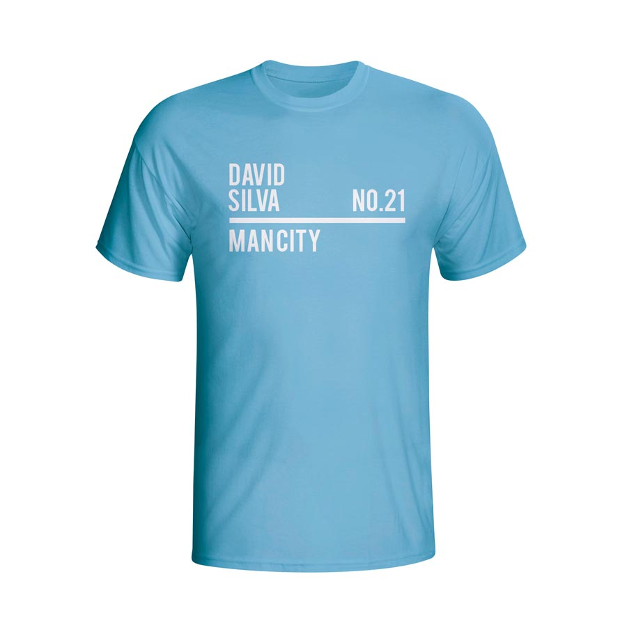 David silva man city squad t shirt sky tshirtsky for T shirts with city names