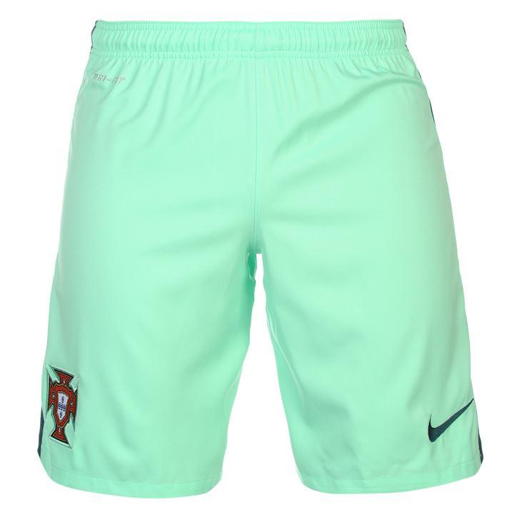 differently a4cb5 3cbd5 Portugal 2016-2017 Nike Away Shorts (Green Glow) - Kids