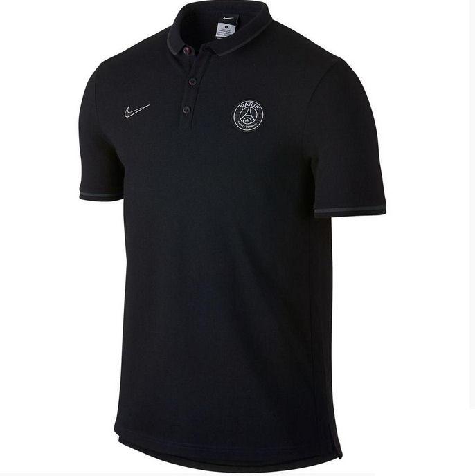 psg 2015 2016 authentic league polo shirt black 715123 010. Black Bedroom Furniture Sets. Home Design Ideas
