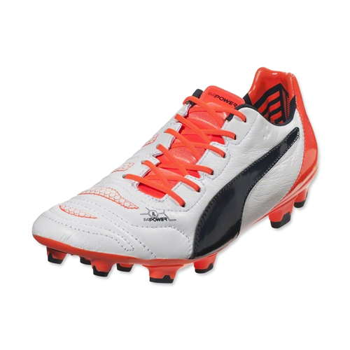 27706051cf39 Puma Evopower 1.2 Mixed SG Football Boots (White-Orange)  10321008 ...