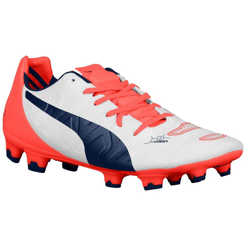 Puma Evopower 2.2 FG Football Boots (White Orange)