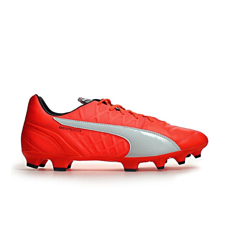 8882b8ccadc7e5 Puma evoSPEED 3.4 Leather Firm Ground Football Boots (Lava Blast ...