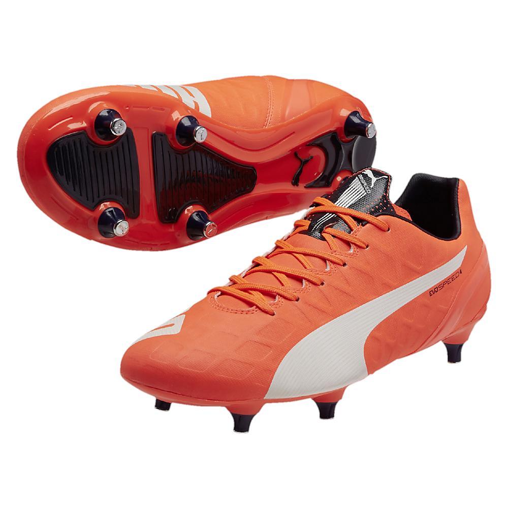 67f96ebfaf794d Puma evoSPEED 4.4 Soft Ground Football Boots (Lava Blast)  10327001 ...