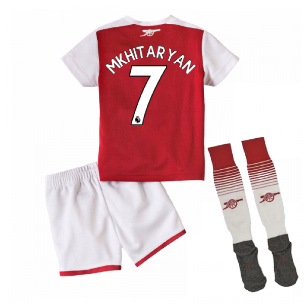 hot sale online d4298 2f119 2017-18 Arsenal Home Mini Kit (Mkhitaryan 7)