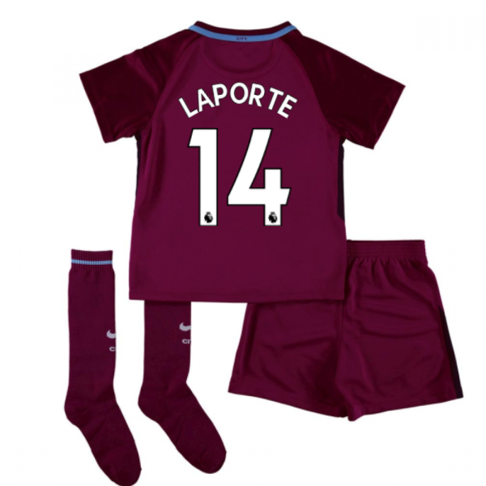 1f3019c0 2017-18 Man City Away Mini Kit (Laporte 14) [847361-667-105477 ...