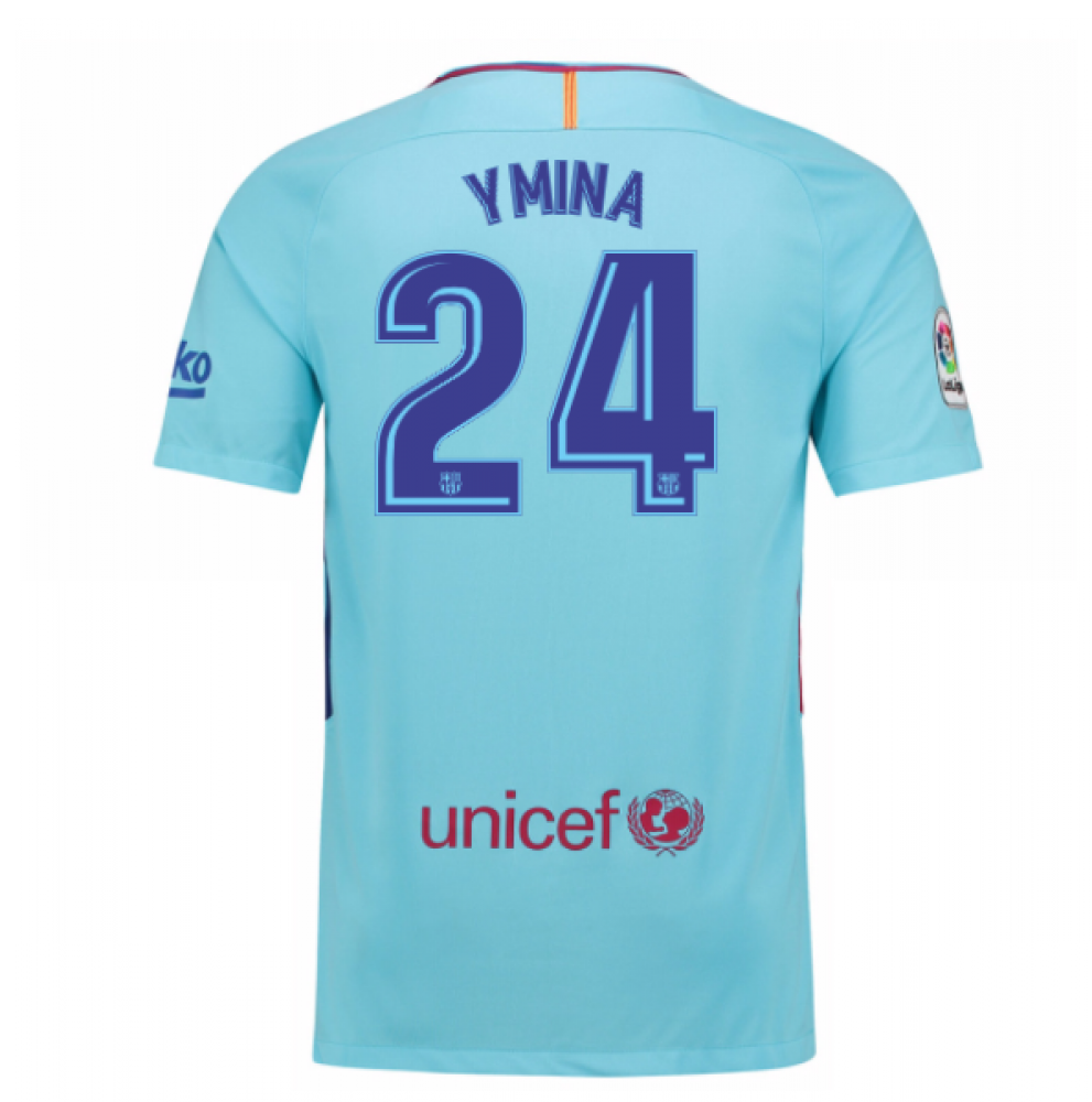 2017-2018 Barcelona Away Shirt (Y Mina 24)  847254-484-106924 ... 276bc4a3d