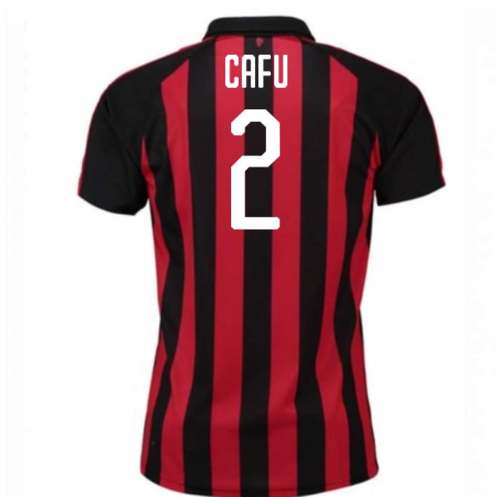 d65744836 2018-2019 AC Milan Puma Home Football Shirt (Cafu 2) - Kids ...
