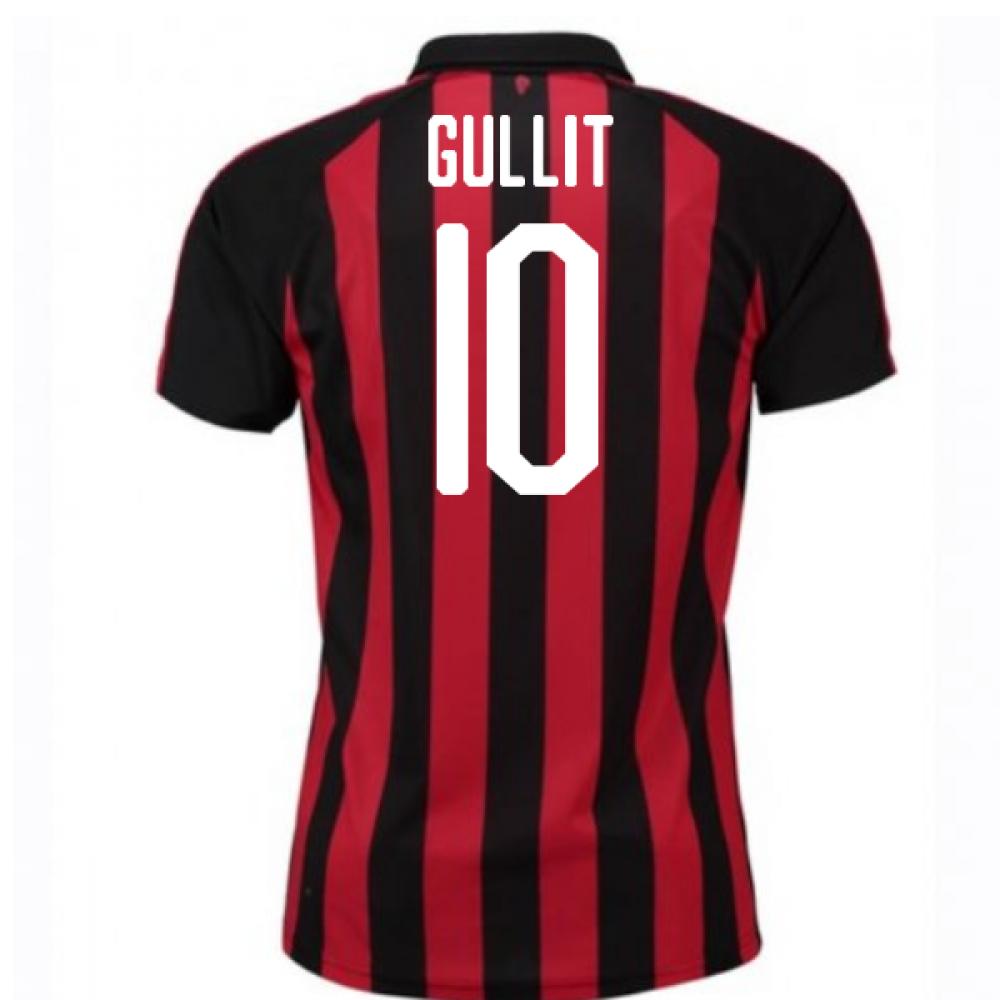 best loved 955a7 e6147 2018-2019 AC Milan Puma Home Football Shirt (Gullit 10) - Kids