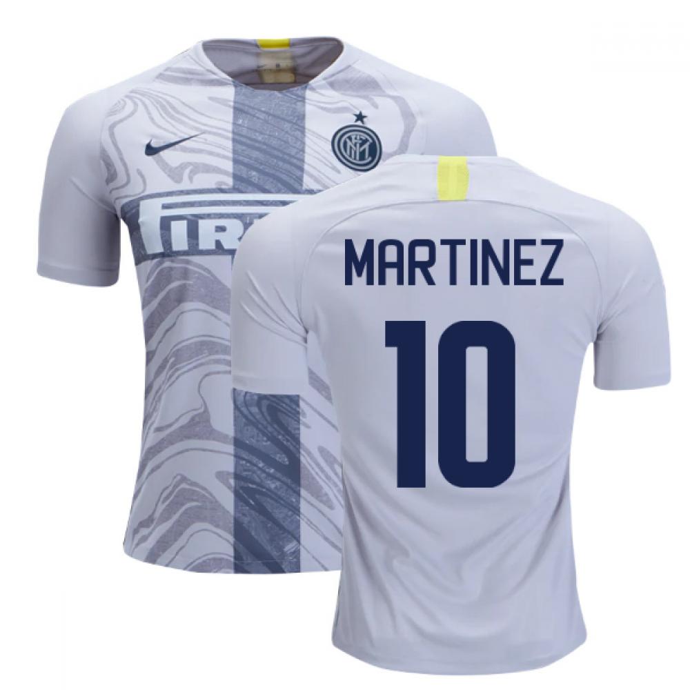 buy popular 8b253 46dff 2018-2019 Inter Milan Third Nike Football Shirt (Martinez 10)