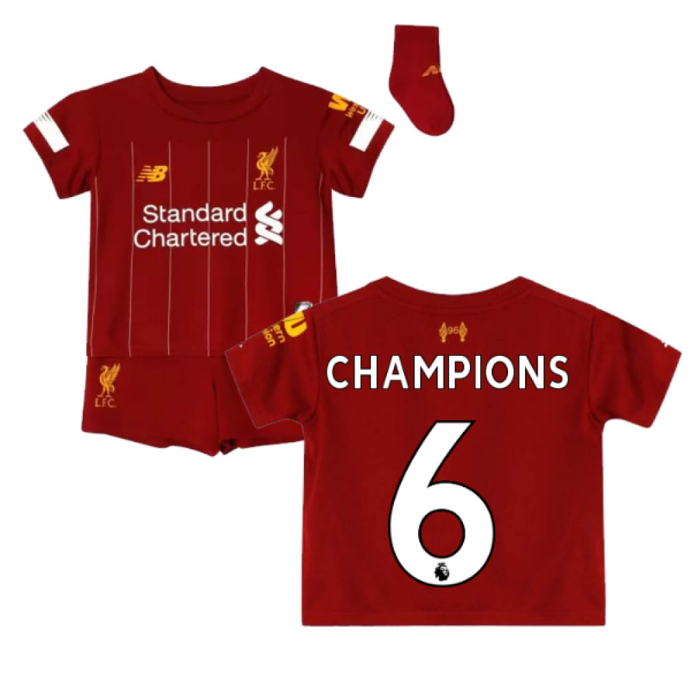 free shipping 17050 4345c 2019-2020 Liverpool Home Baby Kit (Champions 6)
