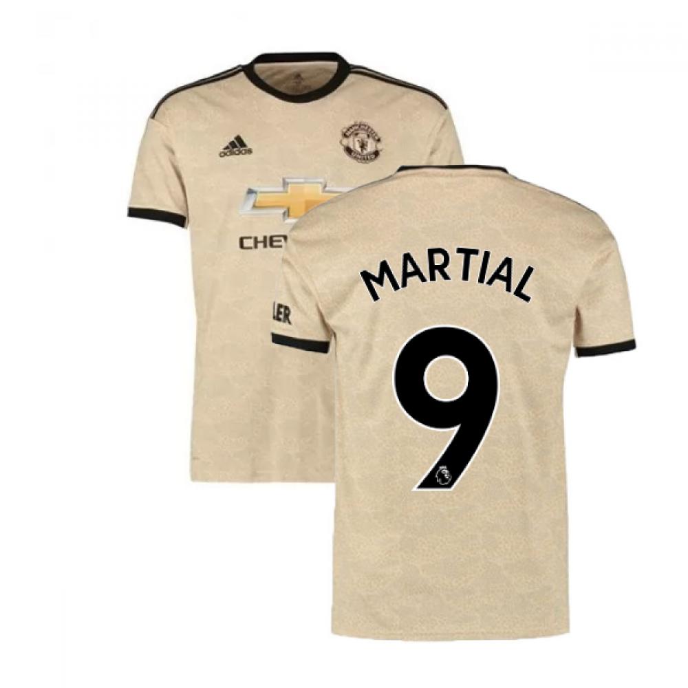 2019-2020 Man Utd Adidas Away Football Shirt (Martial 9)