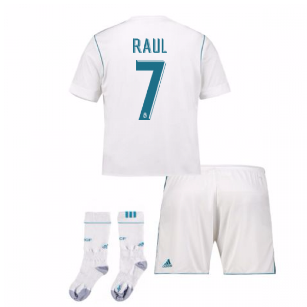 watch bb97f 2927e 2017-17 Real Madrid Home Full Kit (Raul 7)