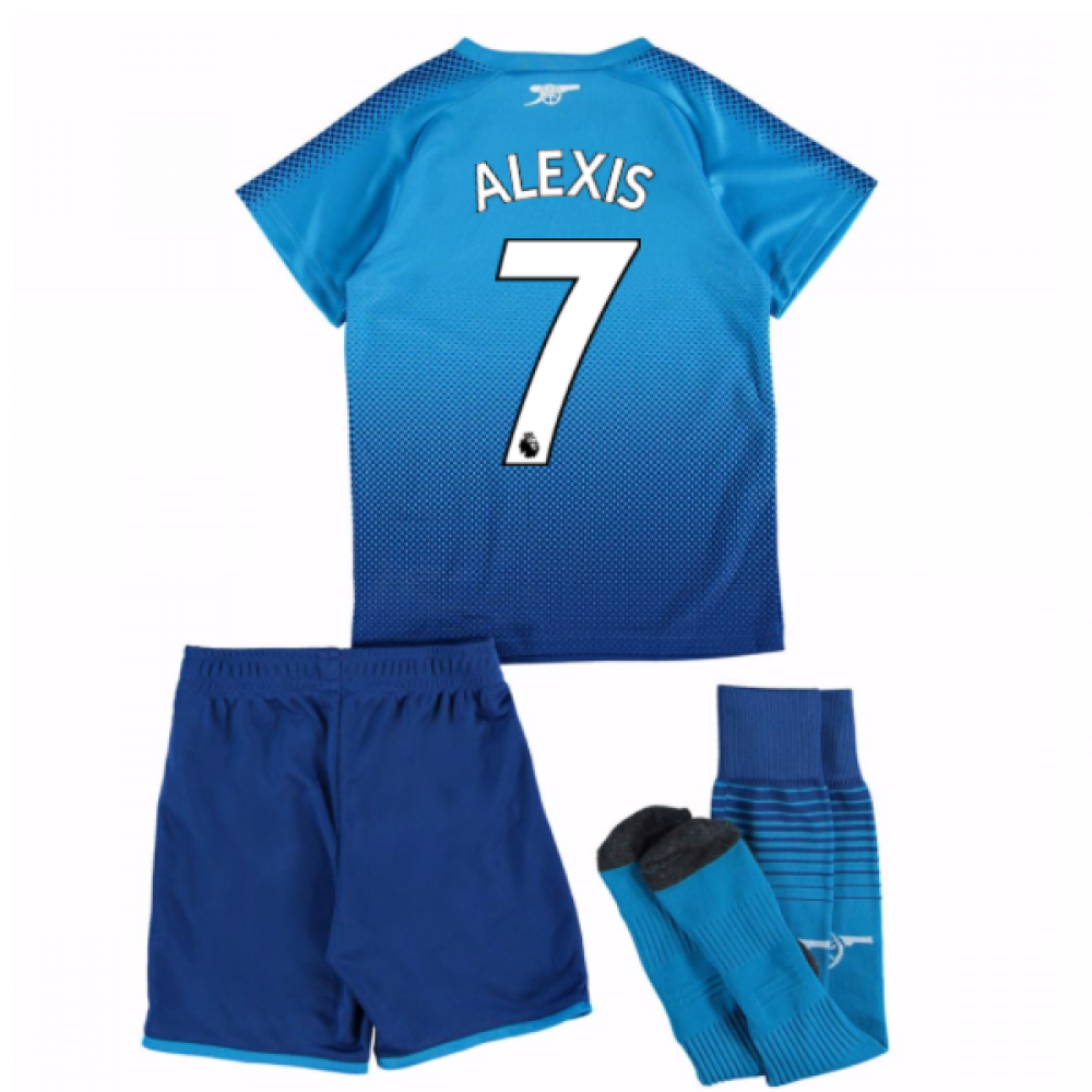 low priced a847e 83de3 2017-18 Arsenal Away Mini Kit (Alexis 7)