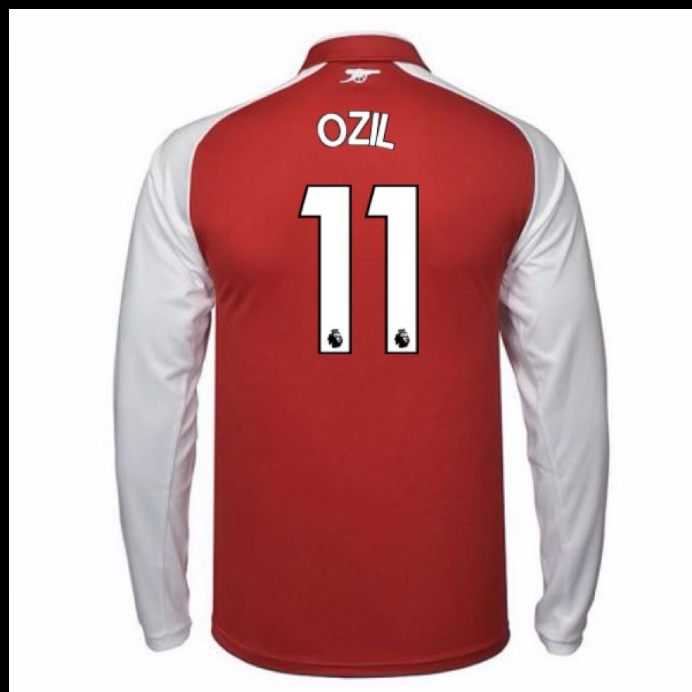 2017 18 Arsenal Home Long Sleeve Shirt Ozil 11 75151002