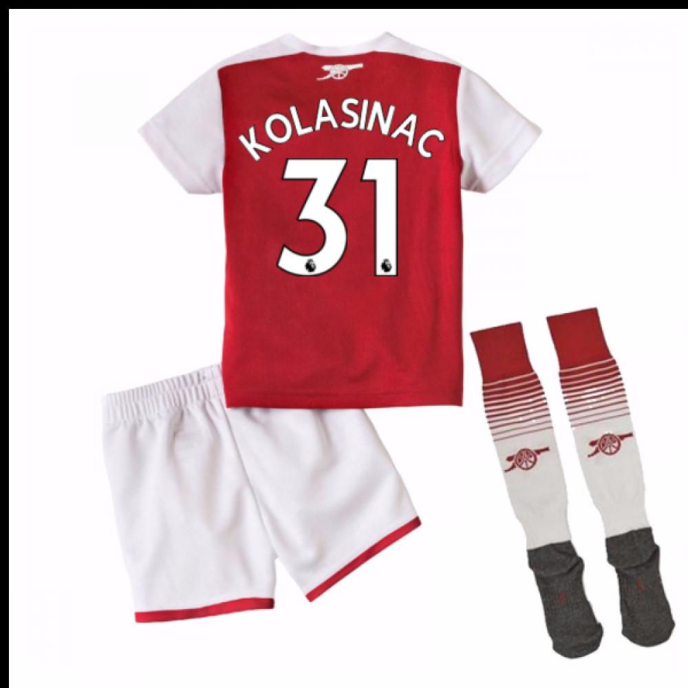 super popular 46f89 5492b 2017-18 Arsenal Home Mini Kit (Kolasinac 31)