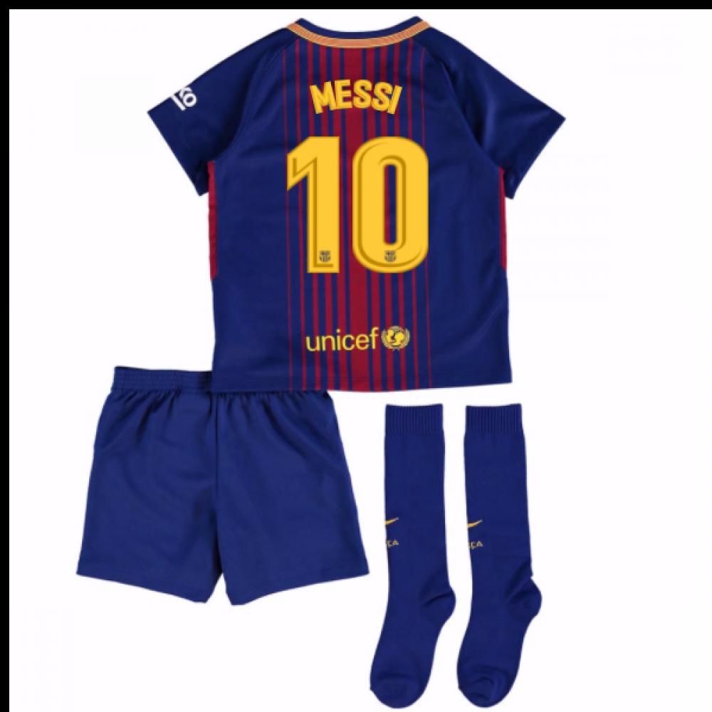 various colors bc657 86fda 2017-18 Barcelona Home Mini Kit (Messi 10)