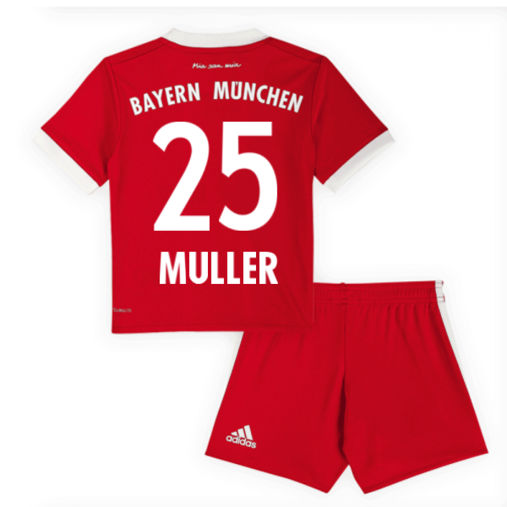 on sale 89581 5e848 2017-18 Bayern Munich Home Mini Kit (Muller 25)