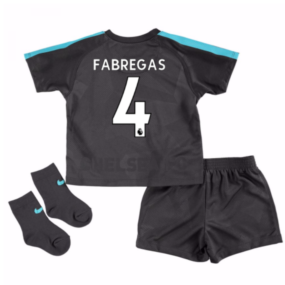 big sale 76beb ac179 2017-18 Chelsea Third Baby Kit (Fabregas 4)