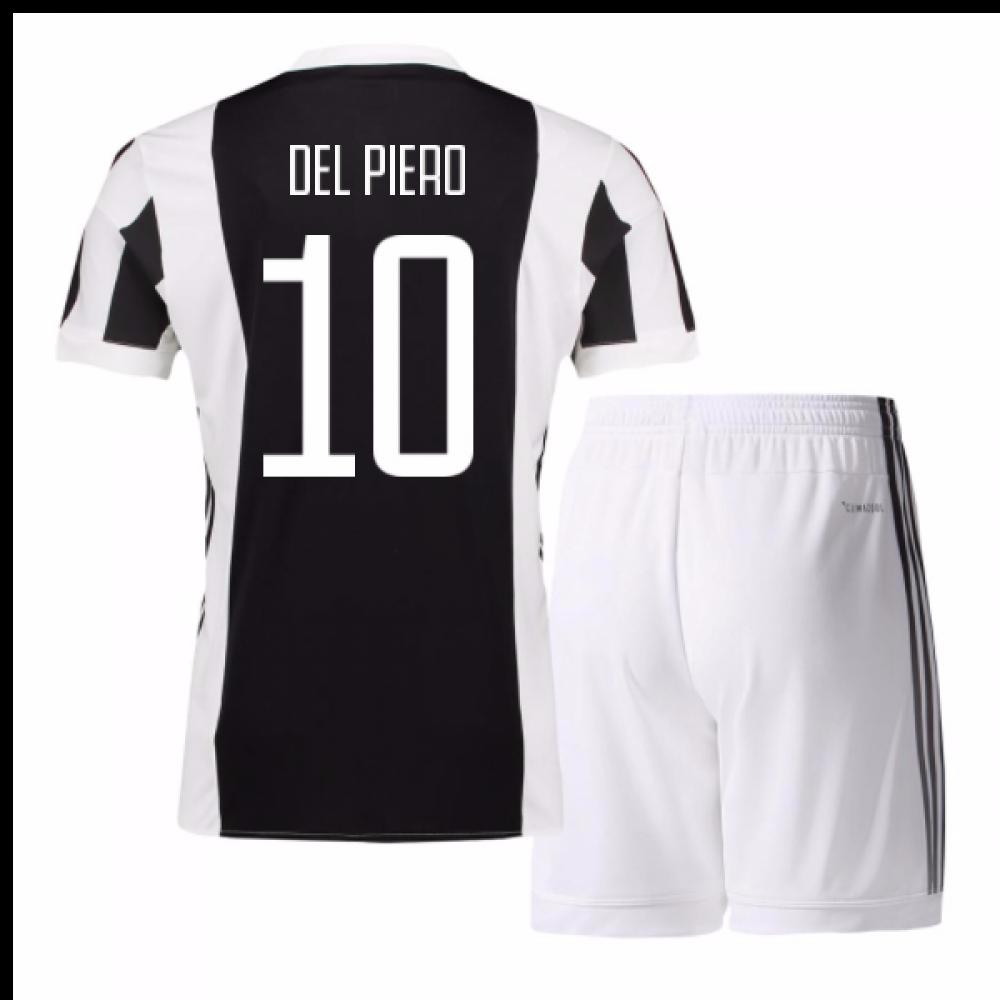 new styles eae97 da54e 2017-18 Juventus Home Mini Kit (Del Piero 10)