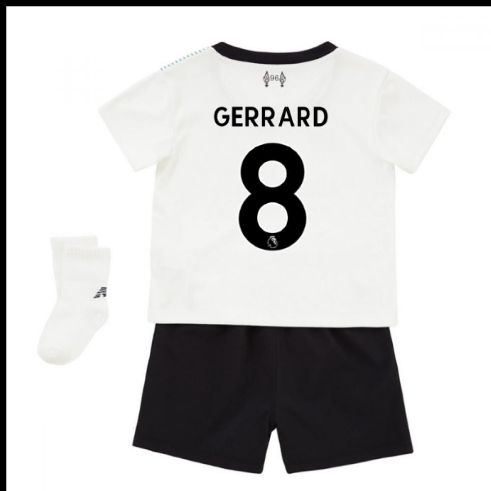 sale retailer edb06 6e90e 2017-18 Liverpool Away Baby Kit (Gerrard 8)