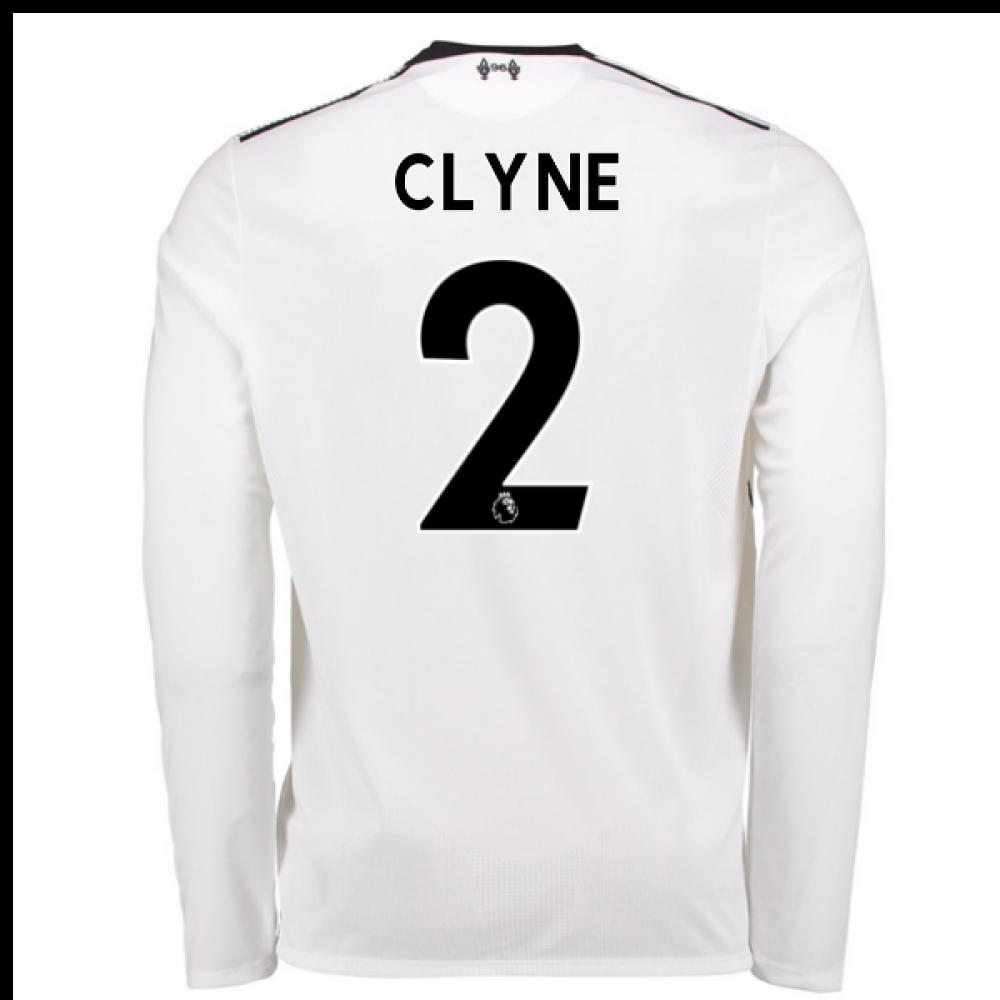 b3b784efe 2017-18 Liverpool Away Long Sleeve Shirt (Clyne 2) - Kids  JT730016 ...