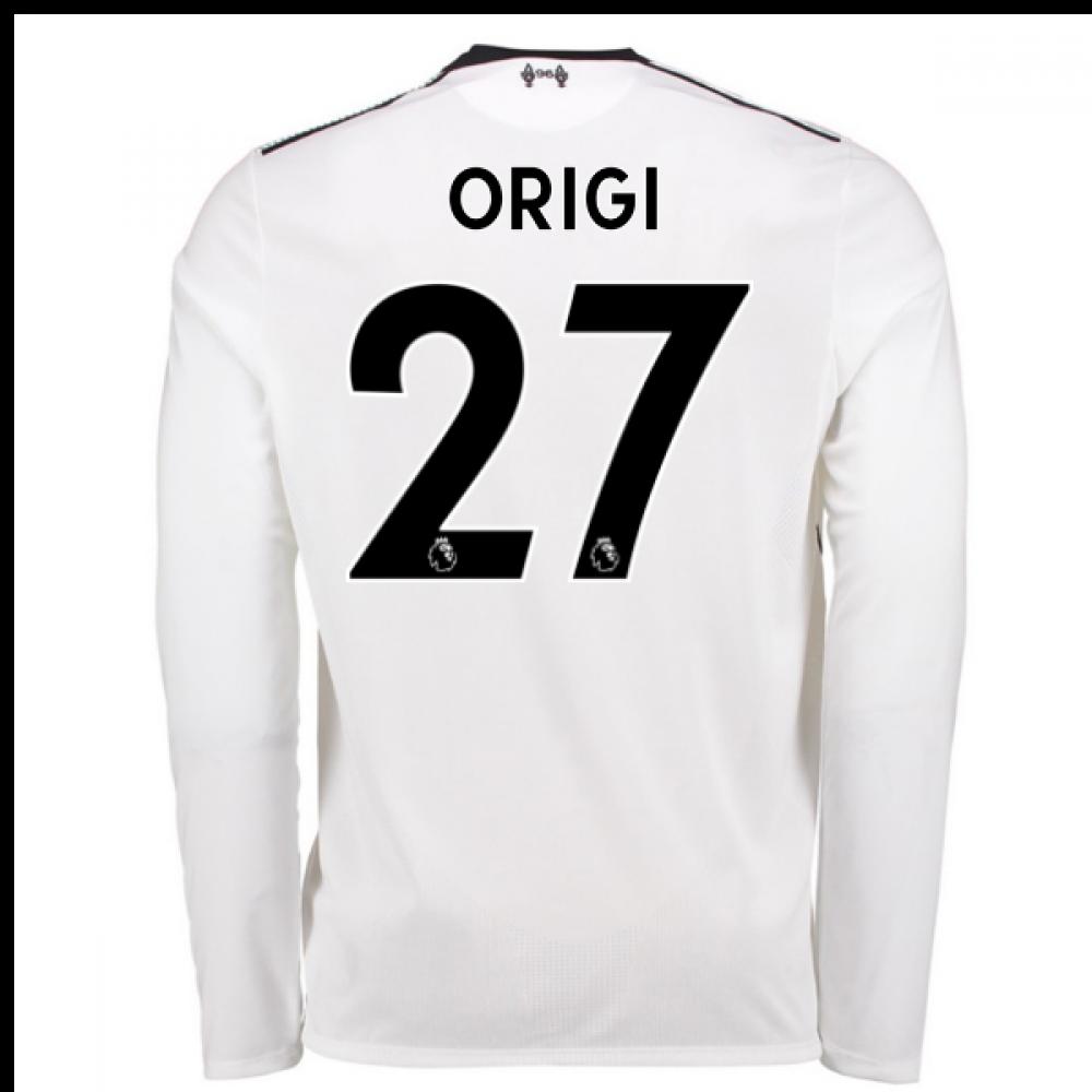590a73d63 2017-18 Liverpool Away Long Sleeve Shirt (Origi 27) - Kids  JT730016 ...