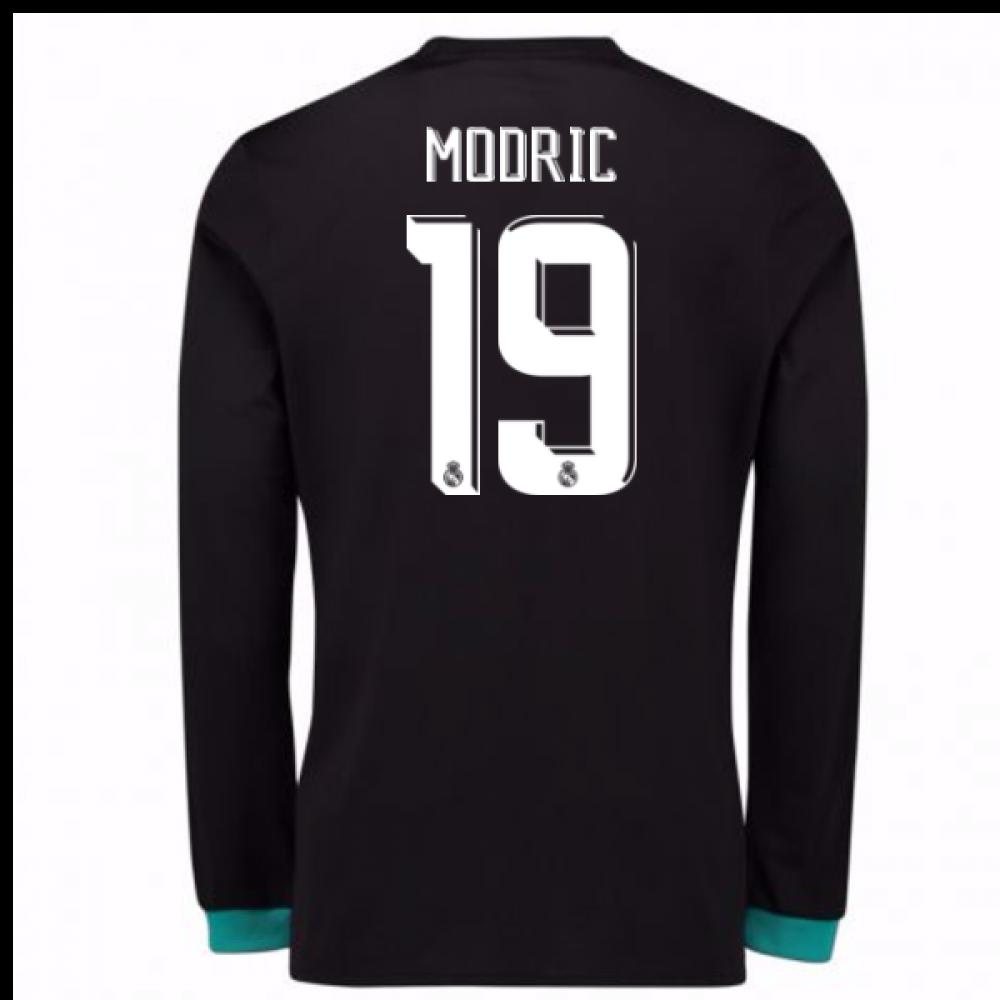 dad0822b31d 2017-18 Real Madrid Away Long Sleeve Shirt - Kids (Modric 19 ...