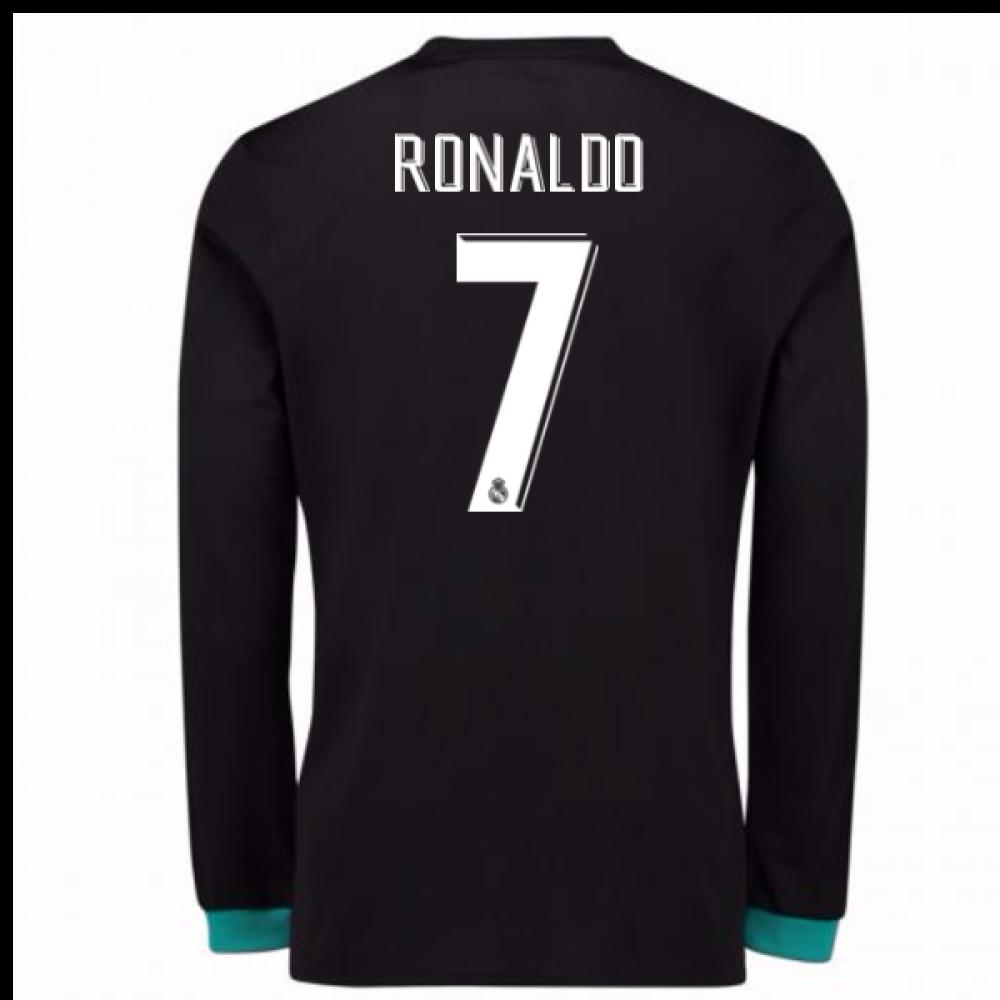 365b2fb90 2017-18 Real Madrid Away Long Sleeve Shirt (Ronaldo 7)  B31088-95188 ...