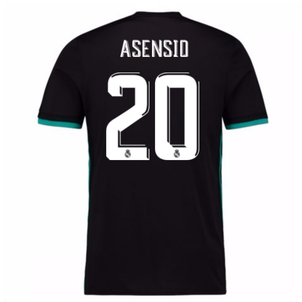 new concept 0a364 18c2e 2017-18 Real Madrid Away Shirt (Asensio 20)